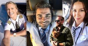 Nejvíc sexy pilotky a piloti: Při pohledu na ně budete v sedmém nebi!
