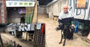 """Václav (66) žije pod mostem a neměnil by: Pere si, vaří si, sprchuje se v """"azyláku"""""""