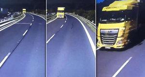 Smrtelné nebezpečí u Chomutova: Řidič se zbláznil?! Kamion se řítil v protisměru!