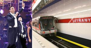 Dopravní změny při koncertu Robbieho Williamse: DPP posílí metro a přemístí zastávky