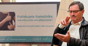 Neslyšící se v sušické nemocnici domluví: Mohou se nově spojit online s tlumočníkem