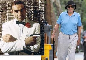 O holi a v teplákách: Takhle stárne James Bond! Connery si vyrazil na špacír po New Yorku