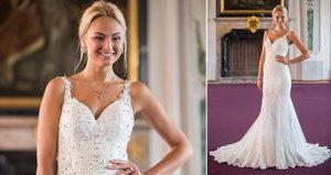 Tereza Fajksová ve svatebním: Šaty zdobí 89 diamantů, váží 7 kilo!