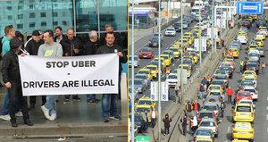 Taxi vs. Uber: Taxikáři chtějí po vládě řešení, vyhrožují nepřetržitým protestem