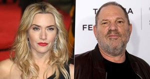 Kate Winslet se opřela do Weinsteina: Šikanoval mě, byl drzý a sprostě nadával