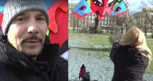 Bohuš Matuš s přítelkyní ve vichřici: Snažili se pouštět draka