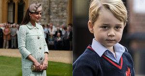Strach o těhotnou Kate: George se musí naučit zavolat mámě pomoc, svěřil se William