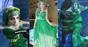 Anička Slováčková fotila pod vodou! Drželo ji tam těžké závaží!