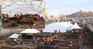 Stanové městečko uprostřed Prahy? Archeologové na Masarykově nádraží budou i přes zimu