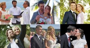 NEJ svatby roku 2017: Zedníček se ženil bosý, Babiš na Čapím hnízdě