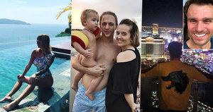 Které hvězdy trávily Silvestra v zahraničí? Klus s rodinou u moře, Mareš ve Vegas!