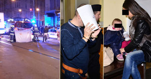 Opilý Rus z mercedesu, který v Praze zabil ženu (†26): U soudu s dítětem a manželkou