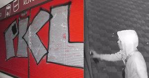 Drzý vandal: Posprejoval roletu obchodu, nápis přišel druhý den ještě »vytunit«
