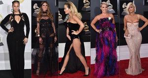 Ceny Grammy 2018: Rita Ora si mačkala podbřišek, Heidi Klum byla průsvitná!