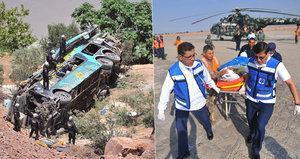 Tragédie v Peru: Nehodu autobusu nepřežilo nejméně 44 lidí!
