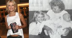 Maxová zveřejnila retrofotku: Jako malá holčička s kudrlinkami a babičkou