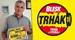 Jaroslav Svoboda (65) z Brozan nad Ohří kupuje Blesk od jeho začátků. A teď? Vyhrál už třikrát!