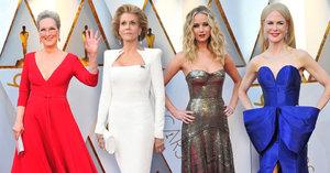 Už žádné černé uniformy! Herečky se na Oscarech vyřádily s barvami