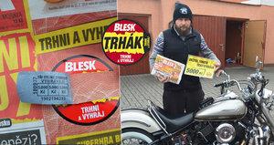 Motorkář Radek si půjčil Blesk a má 5 tisíc: Mami, dejme to na bazén!