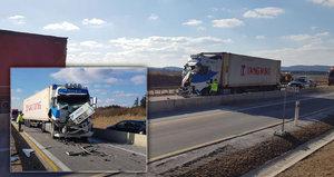 Kolaps na Jihlavsku: Dálnici zastavila nehoda pěti vozidel