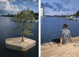Plovoucí dřevěný ostrov se stromem? Momentálně je k vidění v Kodani!