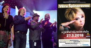 Na vzpomínkovém koncertě pro Špinarovou (†65) museli zasahovat záchranáři!