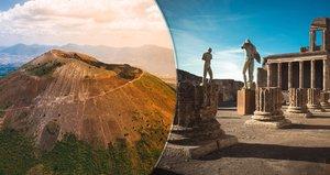 Nebezpečný a úchvatný Vesuv: Objevte dřímající vulkán i Pompeje, které zničil