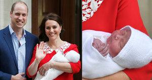 Vévodkyně Kate jen pár hodin po porodu: Světu ukázala novorozené princátko!