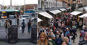 """""""Invaze a noční můra."""" Na turisty v Benátkách políčili nové turnikety"""