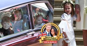 Princeznička zastínila nevěstu Meghan: Nad družičkou Charlotte se rozplývá celý svět, bráška George se schovával