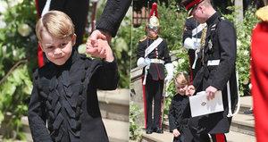 Princ George porušil tradici: Na svatbu strýčka Harryho oblékl kalhoty!