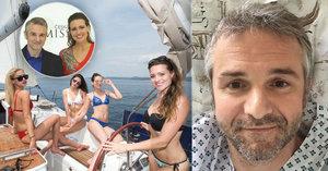 Exředitel České Miss Ditmar: Rychlý převoz do nemocnice! Mysli na Boha, vzkazuje mu z jachty Čerešňáková
