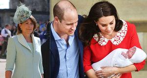 Tajné plány babičky Carole Middleton: Co chystá pro malého prince Louise?