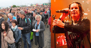 Ozzy a Johnny Depp v Praze: Dřívější začátek, bahno a dlouhé fronty. Kapelám to ale hrálo