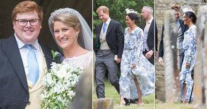Meghan s Harrym na svatbě Dianiny neteře: Skrývají volné šaty těhotenské bříško?