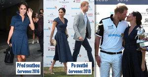 Skoro stejné šaty, propastný rozdíl v ceně: Vévodkyně Meghan po svatbě utrácí