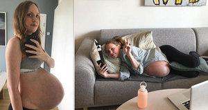 Žena (36) se fotila týden po týdnu celé těhotenství: Takovéhle to je čekat trojčata