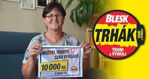 10 tisíc pro vnoučata! Libuše Šporová (61) ze Žatce je věrná čtenářka Blesku a to se jí vyplatilo, vyhrála v Trháku!