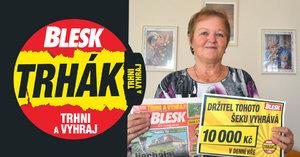 10 tisíc padne na podlahu! Alena Hrdá (66) z Vrchlabí se výhry dočkala po letech soutěžení s Bleskem