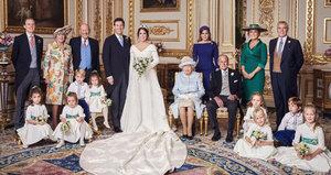 Oficiální snímky ze svatby princezny Eugenie. Její rodiče se 26 let po rozvodu poprvé setkali