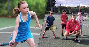 Tragický osud budoucí hvězdy: Malá tenistka (†9) po smrti zachránila čtyři životy