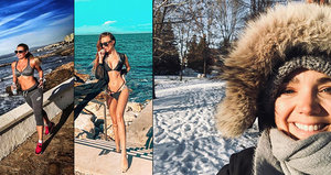 Borhyová s Kopřivovou přivítaly zimu v bikinách, Vondráčková zapadla sněhem!