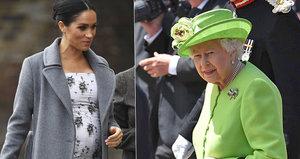 Těhotnou Meghan mají přejít roupy! Královna podnikla jisté kroky