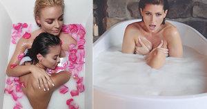 Nahé zpěvačky Bagárová s Konvičkovou ve vaně plné mléka! Okopírovaly nápad Kerndlové?!