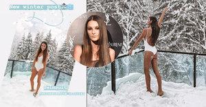 Polonahý sněhulák! Sexy misska Švantnerová vyběhla do sněhu jen v plavkách
