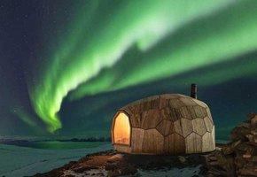 Turistická chata na severu Norska vypadá jako  krunýř želvy