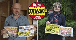 Koupili si Blesk a vyhráli krásnou sumičku: V Trháku získali 10 000 Kč!