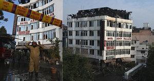 Ničivý požár hotelu v Dillí: V plamenech zemřelo 17 lidí, včetně malého dítěte