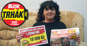 Výherkyně Trháku Alena Havlíčková (58) z Moravské Třebové už ví: 10 tisíc půjde na pračku!