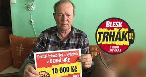 Karel Vagner (71) ze Šlapanic trefil v Trháku 10 tisíc: Výhra přispěje na lázně